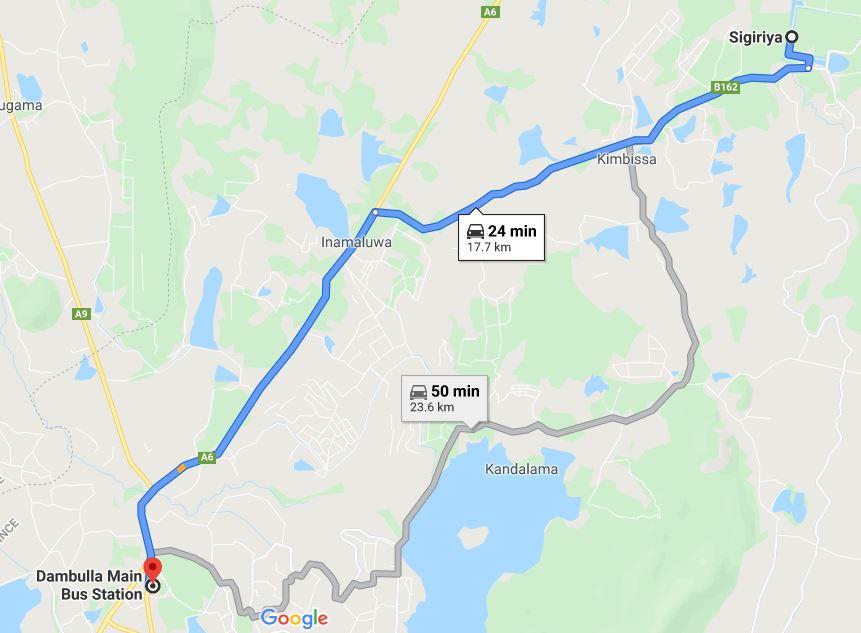 Dambulla to Sigiriya bus tuk-tuk